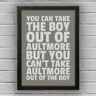 AULTMORE - BOY/GIRL FRAMED WORD TEXT ART PICTURE POSTER Moray