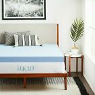 LUCID 4 Inch Cooling Gel Memory Foam Mattress Topper - Fast/Free Shipping image