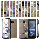For Motorola Moto Z Droid Edition Black Hard Clear Case TPU Bumper Cover + Pen