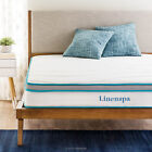 LINENSPA 8 inch Innerspring Memory Foam Hybrid Mattress Twin Full Queen King