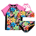 Breaking Waves Pattern Rash Guard Set Big Kid Size 8 New Msr