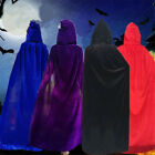 Long Cloak Cape Hooded Robe Vampire Wedding Witch Wicca Adult  Halloween Robe