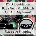 New Movie DVD Liquidation Sale ** Titles: E-F #604 ** Buy 1 Get 1 flat ship fee