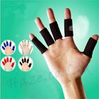 10Pcs Finger Protector Sleeve Support Basketball Sports Aid Band Wraps Gift