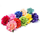 2Pcs Rose Flower Women Poly Hair Clip Flamenco Bridal Pin Up