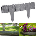 10/20/30X GREY COBBLED STONE EFFECT PLASTIC GARDEN LAWN EDGING BORDER PROTECT