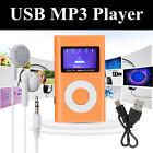Mini Digital MP3 Music Player LCD Screen Support 32GB TF Card + USB + Earphone