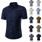 Mens Fashion Luxury Casual Slim Fit Stylish Long Sleeve Floral Dress Shirts y