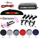 Car Auto Van Parking Reverse Reversing Backup 4/8 Sensors Kit Radar Sound Alarm