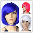 Fashion Lady Short Straight Oblique Hair Full Wigs Cosplay Party Hair Wig Hot