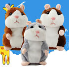 2017 Gift Talking Nod Hamster Mouse Record Chat Mimicry Pet Plush Toy Xmas Gift