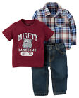 Carters 3 6 9 12 18 24 Months Shirt Tee Jeans Set Baby Boy Clothes