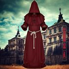 Halloween Medieval Monk Wizard Priest Christians Witchcraft Suit Cosplay Costume