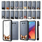 For LG G6 H870 H871 H872 US997 LS993 Animal Clear TPU Black Bumper Cover + Pen