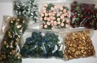 Miniature Rose Bud Poly Silk Flowers Wedding Shower Favor by Color / Amount