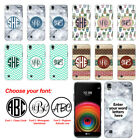 For LG X Power K450 US610 LS755 Custom Personalized Monogram Letters Case Cover
