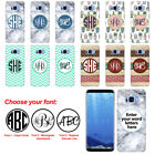 "For Samsung Galaxy S8 G950 5.8"" Custom Personalized Monogram Letters Hard Cover"