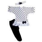 Baby Girls Polka Dot Fun Dress, Tights, Headband. 4 Preemie and Newborn Sizes.
