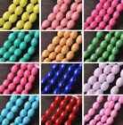 Wholesale 30~100pcs 11X8mm Oval Glass Lacquer NEW Findings Spacer Loose Beads