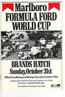 BRANDS HATCH SUNDAY OCTOBER 31st 1982, MALBORO FOMULA FORD WORLD CUP PROGRAMME