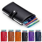 Men Women Leather Aluminium Pop Up Business ID Credit Card Case Holder Wallet TY