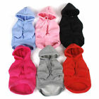 Pet Winter Solid Puppy Clothes Dog Cat Warm Cotton Blend Hoodie Coat Sweatshirts