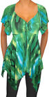 ZF@ Funfash Plus Size Women Emerald Green A Line Top Blouse Shirt Made in USA