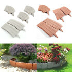 10-30pcs Stone Effect Garden Lawn Edging Border Stakes Grass Mulch Plant Divider