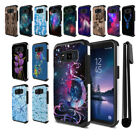 For Samsung Galaxy S8 Active G892A Hybrid Bumper Protective Case Cover + Pen