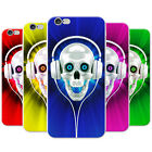 Skull With Headphones Snap-on Hard Back Case Phone Cover for Apple Mobile Phones