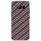 Purple Cream Star & Flower Patterns Hard Case Phone Cover for Samsung Phones