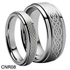 size 4-18 Custom His or Her Celtic TUNGSTEN CARBIDE RING Wedding Band