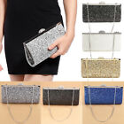 All-Over Glitter Design Women Clutch Evening Handbag Clasp W/ Shiny Rhinestones