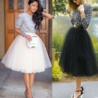 Tulle Skirt Tutu Petticoat Ball Gown Lady Wedding Prom Rockabilly Dress US Stock