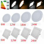 3-24W Recessed LED Ceiling Panel Light Flat Bedroom Square Downlight With Driver