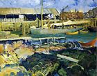 The Fish Wharf by George Bellows. Fine Art Repro Made in U.S.A Giclee Prints