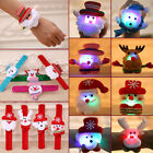 Kids Sequin LED Light Glow Christmas Toy Xmas Slap Circle Bracelet Wrist Band