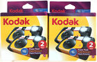 (2) Kodak HD Power Flash Single-Use 27 Exposure Cameras New & Sealed
