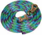 Colorful Poly Lead Rope with Bull Snap 9 feet  - 7 Colors available NEW