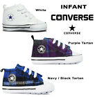 Converse All Star Tartan Baby Crib Boy Girl Infant Trainer Soft Sole Shoes 1-4