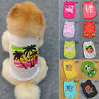 Pet Summer Dog Clothes T Shirt Puppy Cute Cotton Vest Coats Apparel Costumes