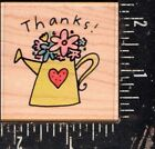 Uptown Wood Mounted Rubber Stamp Amanda Haley Thanks Bouquet