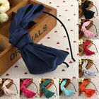 1Pair Women Flower big Bow knot Bowtie Ribbon Hair Head Band Hoop Headband Gifts
