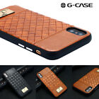 For iPhone X Luxury Genuine Leather Shockproof Slim Hybrid Protective Case Cover