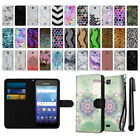 For Kyocera Hydro Wave C6740 Design Ultra Slim Canvas Wallet Case Cover + Pen