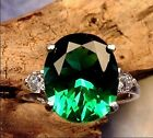 Helenite Mt St Helens12x10 Tpz Ring sz 6,7,7.5,8 Sterling Silver .925  Green