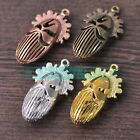 1/5pcs 50X28mm Opera Facebook Patterns Alloy Charms Pendants DIY Crafts Findings