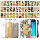For Samsung Galaxy J1 J120 2nd Gen 2016 Slim Sparkling Gold TPU Case Cover + Pen
