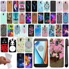 For Motorola Moto E3 3rd 2016 Cute Design TPU SILICONE Case Phone Cover + Pen