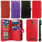 For ZTE Obsidian Z820 Leather Flip Magnetic Card Holder Wallet Cover Case + Pen